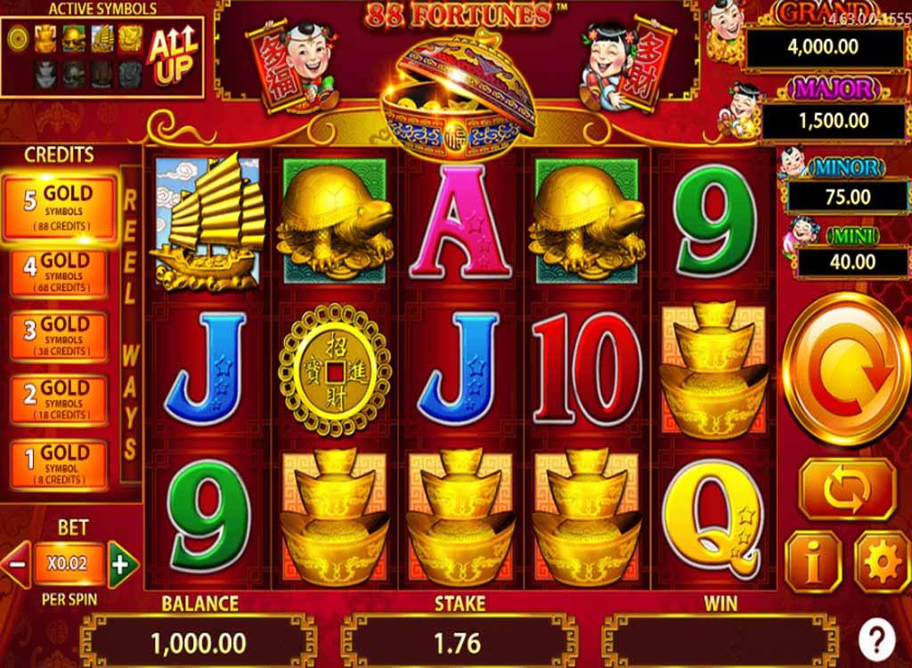 Machine à sous 88 Fortunes de Bally Technologies - Jeux Gratuits de Casino